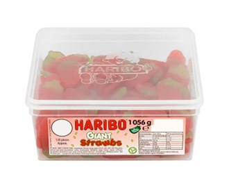 HARIBO GIANT STRAWBERRIES (120) 1.056KG