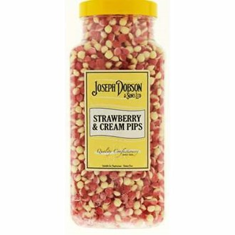 DOBSON STRAWBERRY CREAM PIPS 2.72KG