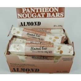 Pantheon Almond Nougat Bars 100g (20)