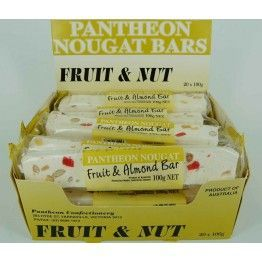 Pantheon Fruit & Nut Bars 100g (20)